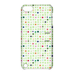 Dotted Pattern Background Full Colour Apple Ipod Touch 5 Hardshell Case With Stand