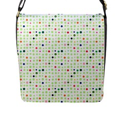 Dotted Pattern Background Full Colour Flap Messenger Bag (l)  by Modern2018