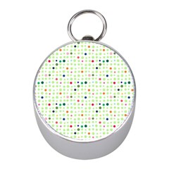 Dotted Pattern Background Full Colour Mini Silver Compasses