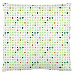 Dotted Pattern Background Full Colour Large Flano Cushion Case (one Side)