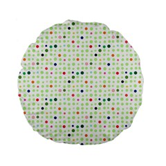 Dotted Pattern Background Full Colour Standard 15  Premium Flano Round Cushions
