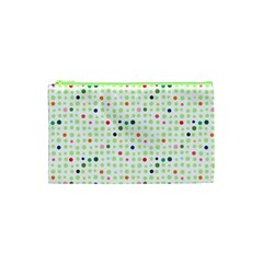 Dotted Pattern Background Full Colour Cosmetic Bag (xs)