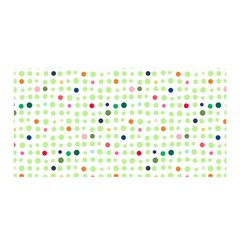 Dotted Pattern Background Full Colour Satin Wrap