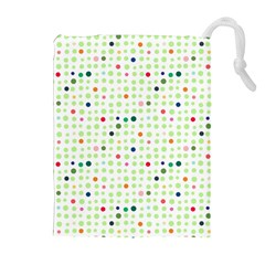 Dotted Pattern Background Full Colour Drawstring Pouches (extra Large)