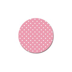 Pink Polka Dot Background Golf Ball Marker (10 Pack)