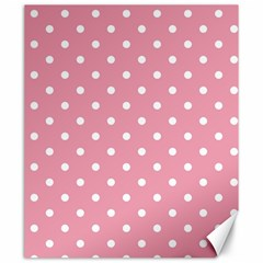 Pink Polka Dot Background Canvas 20  X 24
