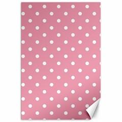 Pink Polka Dot Background Canvas 20  X 30   by Modern2018