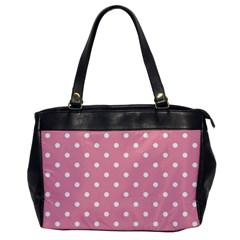 Pink Polka Dot Background Office Handbags by Modern2018