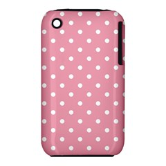 Pink Polka Dot Background Iphone 3s/3gs