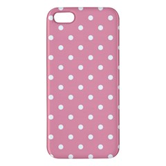 Pink Polka Dot Background Apple Iphone 5 Premium Hardshell Case