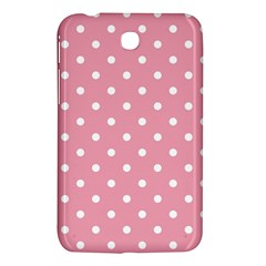 Pink Polka Dot Background Samsung Galaxy Tab 3 (7 ) P3200 Hardshell Case