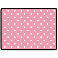 Pink Polka Dot Background Double Sided Fleece Blanket (large)  by Modern2018