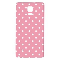 Pink Polka Dot Background Galaxy Note 4 Back Case