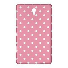 Pink Polka Dot Background Samsung Galaxy Tab S (8 4 ) Hardshell Case