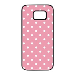 Pink Polka Dot Background Samsung Galaxy S7 Edge Black Seamless Case