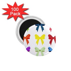 Ribbons And Bows Polka Dots 1 75  Magnets (100 Pack)