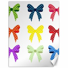 Ribbons And Bows Polka Dots Canvas 18  X 24