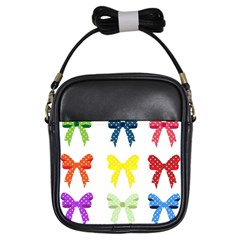 Ribbons And Bows Polka Dots Girls Sling Bags