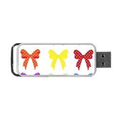 Ribbons And Bows Polka Dots Portable Usb Flash (one Side)