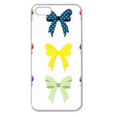 Ribbons And Bows Polka Dots Apple Seamless Iphone 5 Case (clear)