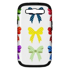 Ribbons And Bows Polka Dots Samsung Galaxy S Iii Hardshell Case (pc+silicone)