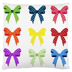 Ribbons And Bows Polka Dots Standard Flano Cushion Case (one Side) by Modern2018