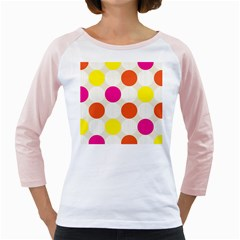 Polka Dots Background Colorful Girly Raglans