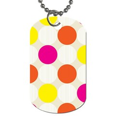 Polka Dots Background Colorful Dog Tag (two Sides)