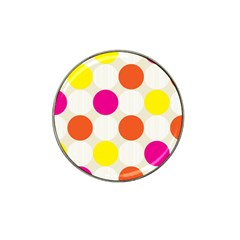 Polka Dots Background Colorful Hat Clip Ball Marker (4 Pack)