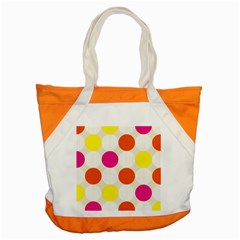 Polka Dots Background Colorful Accent Tote Bag