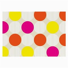 Polka Dots Background Colorful Large Glasses Cloth