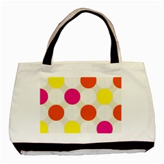 Polka Dots Background Colorful Basic Tote Bag (two Sides)