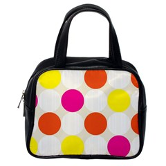 Polka Dots Background Colorful Classic Handbags (one Side)