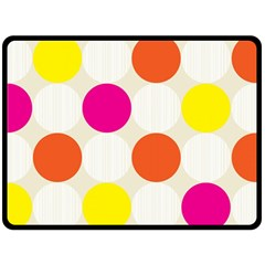 Polka Dots Background Colorful Fleece Blanket (large)