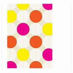 Polka Dots Background Colorful Large Garden Flag (two Sides)
