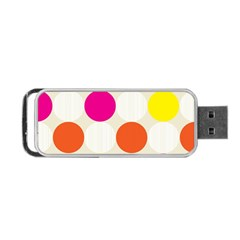 Polka Dots Background Colorful Portable Usb Flash (two Sides)