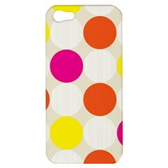 Polka Dots Background Colorful Apple Iphone 5 Hardshell Case