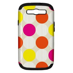 Polka Dots Background Colorful Samsung Galaxy S Iii Hardshell Case (pc+silicone)