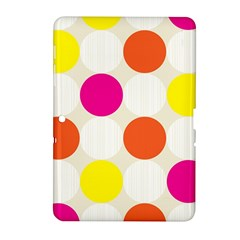 Polka Dots Background Colorful Samsung Galaxy Tab 2 (10 1 ) P5100 Hardshell Case