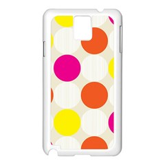 Polka Dots Background Colorful Samsung Galaxy Note 3 N9005 Case (white)