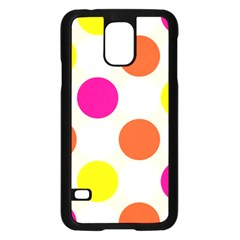 Polka Dots Background Colorful Samsung Galaxy S5 Case (black)
