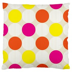Polka Dots Background Colorful Standard Flano Cushion Case (two Sides)