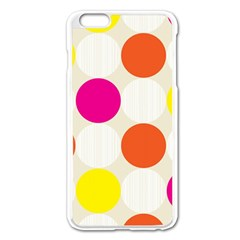 Polka Dots Background Colorful Apple Iphone 6 Plus/6s Plus Enamel White Case
