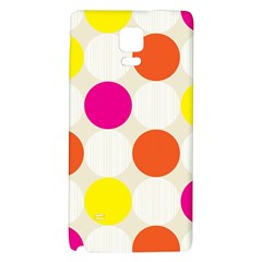 Polka Dots Background Colorful Galaxy Note 4 Back Case