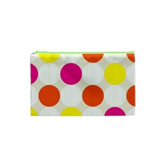 Polka Dots Background Colorful Cosmetic Bag (xs) by Modern2018