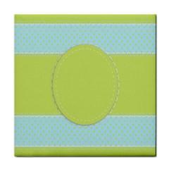 Lace Polka Dots Border Tile Coasters
