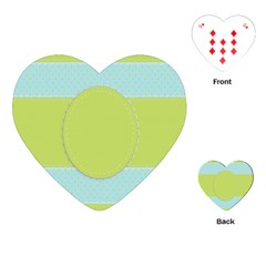 Lace Polka Dots Border Playing Cards (heart)
