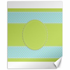 Lace Polka Dots Border Canvas 11  X 14