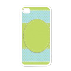 Lace Polka Dots Border Apple Iphone 4 Case (white)