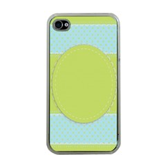 Lace Polka Dots Border Apple Iphone 4 Case (clear)